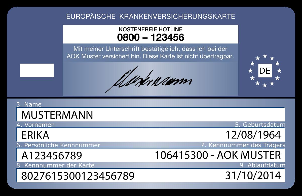 TSE - Tarjeta Sanitaria Europea