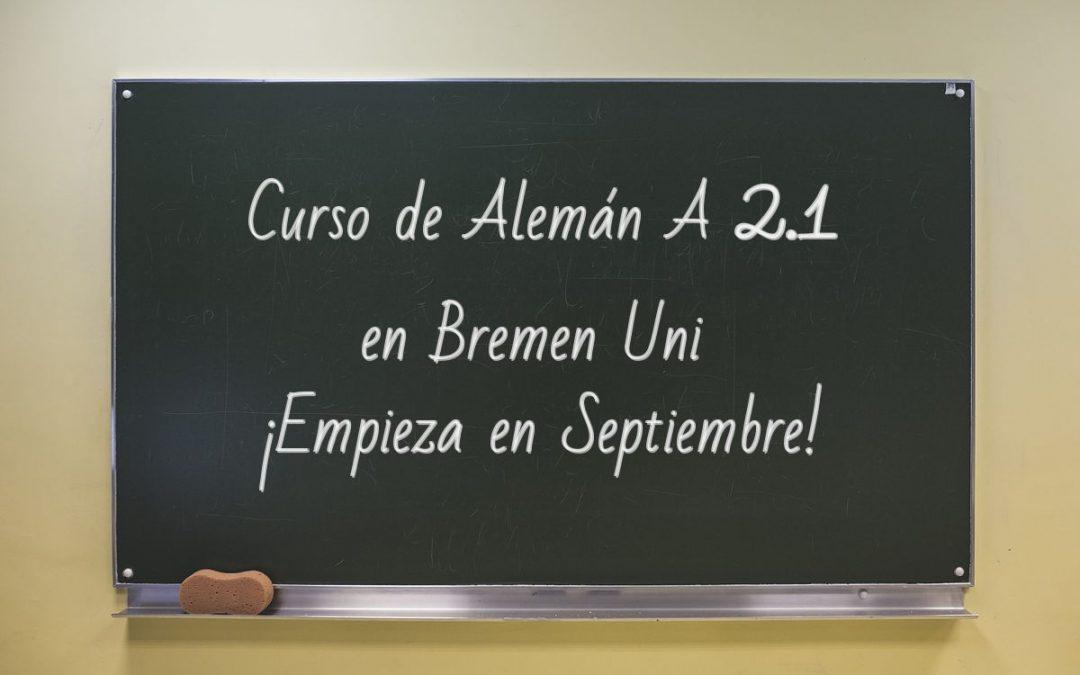 Curso de Alemán A 2.1 comienza en septiembre
