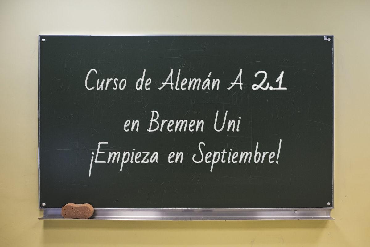 Curso de alemán en Bremen UNI Septiembre 2018